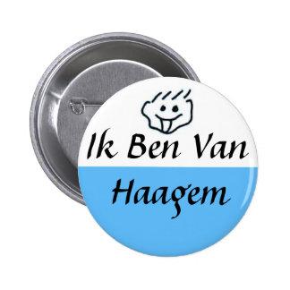 Ik ben van Haagem Ronde Button 5,7 Cm