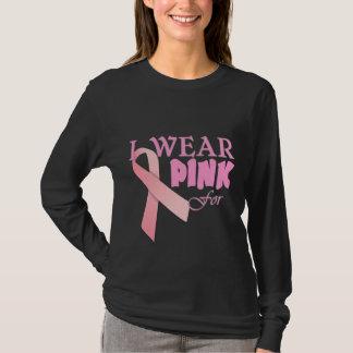 Ik draag Roze voor Naam Tempate voor Kanker Awa T Shirt
