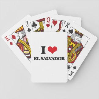 Ik houd van El Salvador Pokerkaarten
