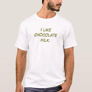 Ik houd van het T-shirt van de chocolademelk