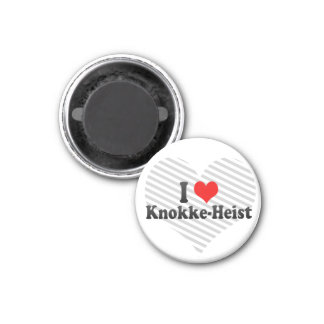 Ik houd van knokke-Heist, België Ronde Magneet 3,2 Cm