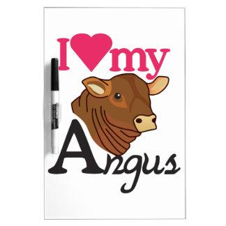 Ik houd van Mijn Angus Whiteboard
