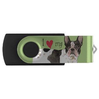 Ik houd van mijn Franse Buldog Swivel USB 3.0 Stick