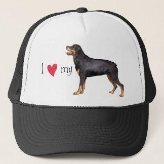 Ik houd van mijn Rottweiler Trucker Pet