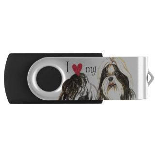 Ik houd van mijn Shih Tzu Swivel USB 3.0 Stick