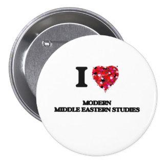 Ik houd van Moderne Studies Van het Middenoosten Ronde Button 7,6 Cm