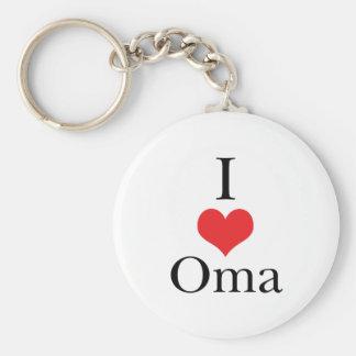 Ik houd van Oma (van het Hart) Sleutelhanger