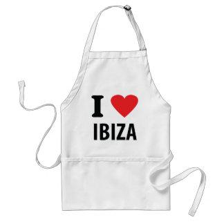 Ik houd van pictogram Ibiza Standaard Schort
