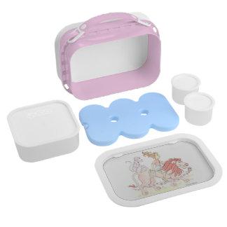 Ik houd van ROZE lunchbox douane