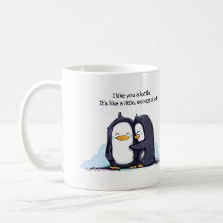 Ik houd van u Pinguïnen een Lottle - Mok