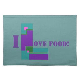 Ik houd van Voedsel Placemat