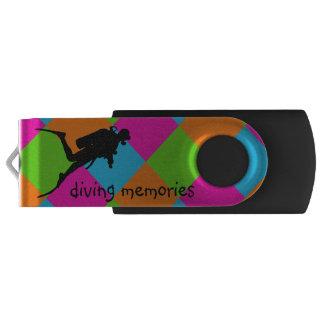 Ik houd van vrij duiken flashdrive USB Swivel USB 2.0 Stick