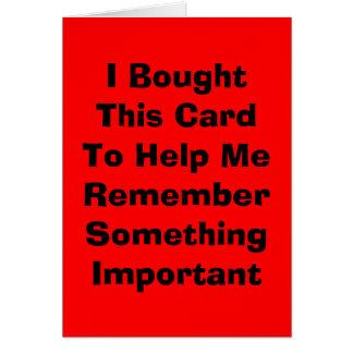 Ik kocht Deze Kaart om me te helpen Somethin…