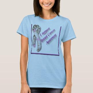 ik steun de voorlichting van borstkanker t shirt