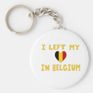 Ik verliet Mijn Hart in België Basic Ronde Button Sleutelhanger