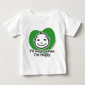 Ik zal spenen wanneer ik klaar ben baby t shirts