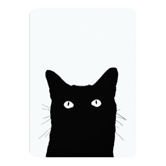 Ik zie Kat klikken om Uw Decor van de Kleur te 12,7x17,8 Uitnodiging Kaart