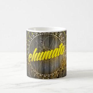Il effiloche, Chumato Yellow Outline Mug Blanc
