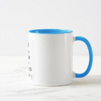 Il effiloche dans 2 couleurs mug