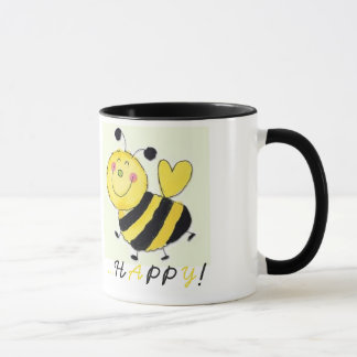 Il effiloche «il Voit happy !» en couleur noire Mug