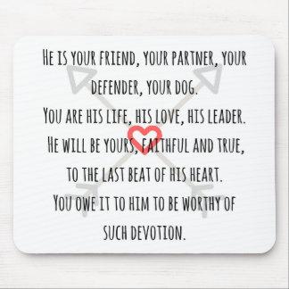 Il est votre chien - tapis de souris