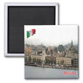 IL - la Sicile - Messine - paysage urbain Magnet Carré