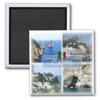 IL - l'Italie # la Campanie - Capri - Magnet Carré