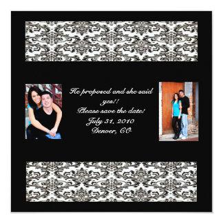 Il propsed et elle a dit oui ! Réservez la date Carton D'invitation 13,33 Cm