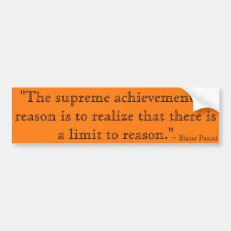 Il y a une limite à raisonner citation par Blaise Autocollant De Voiture