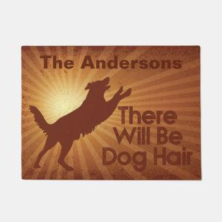 Il y aura tapis de porte de cheveux de chien