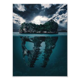 Île artistique d'imaginaire abstrait tirages photo