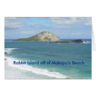 Île de lapin de carte de plage de Makapu'u
