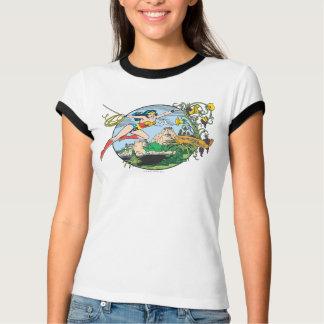 Île de paradis de femme de merveille t-shirt