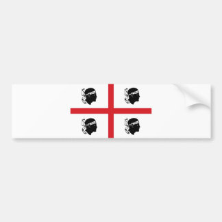 île de région de l'Italie de drapeau de la Sardaig Adhésif Pour Voiture