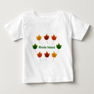 Île de Rhode (feuille d'érable rouge) T-shirt Pour Bébé