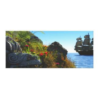 Île perdue toiles