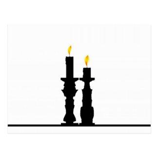 Illusion de chandelier carte postale