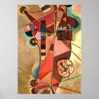 Illustration abstraite de Kandinsky, points fixes