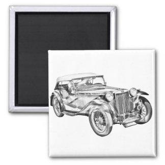 Illustration antique de voiture de sport de comité magnets