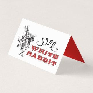 Illustration blanche vintage de lapin carte de placement
