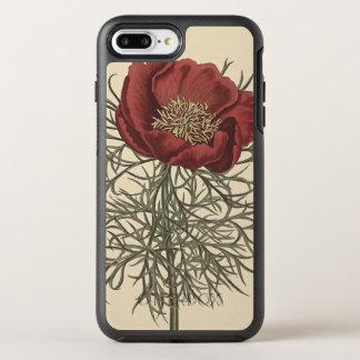 Illustration botanique de bonne pivoine Leaved Coque OtterBox Symmetry iPhone 8 Plus/7 Plus