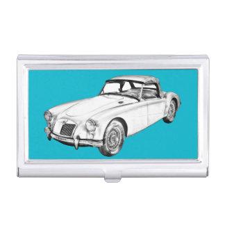 Illustration convertible de voiture de sport de MG Étui Pour Cartes De Visite