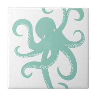 Illustration côtière de poulpe nautique d'animal s petit carreau carré