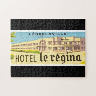 Illustration d'affiche d'Hotel le Regina_Vintage Puzzle