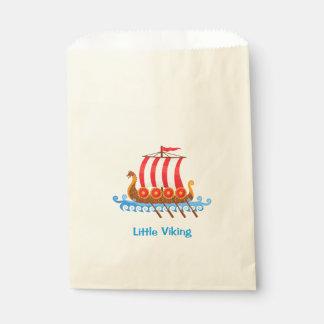 Illustration de bande dessinée de bateau de Viking Sachets En Papier