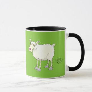 Illustration de bande dessinée d'un mouton mug