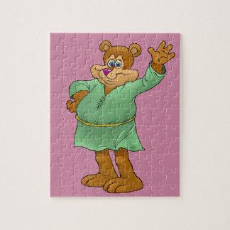 Illustration de bande dessinée d'un ours de puzzle