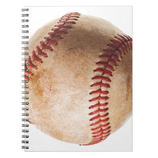 Illustration de base-ball carnet à spirale