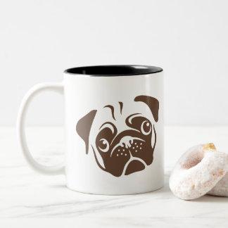 Illustration de carlin mug bicolore