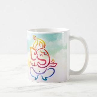 Illustration de couleur d'aquarelle Ganesha et de Mug